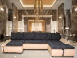 большой угловой диван Опал Люкс