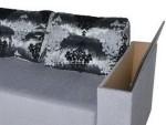 Угловой диван Гранд с нишей в подлокотниках