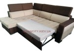 Угловой диван Селин в разложенном виде